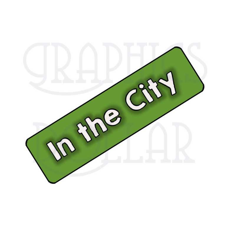 A Day in the City Clip Art