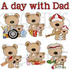 A Day with Dad Clip Art