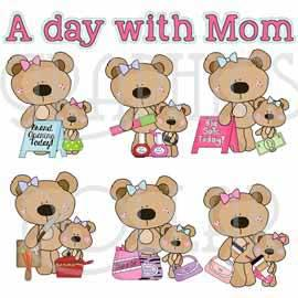 A Day with Mom Clip Art