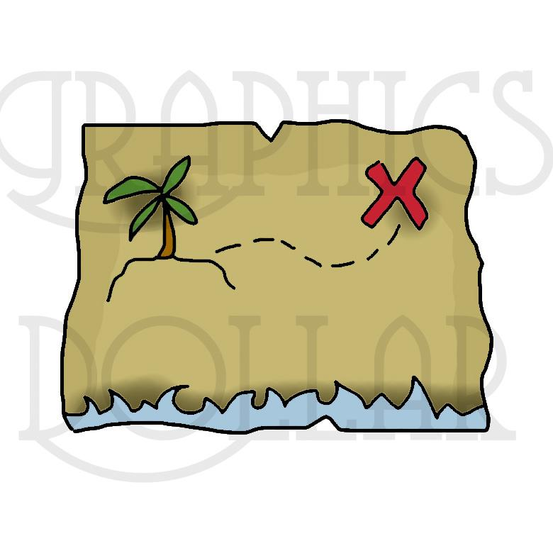 Ahoy Pirate Island Clip Art