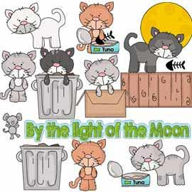 Alley Cats Clip Art