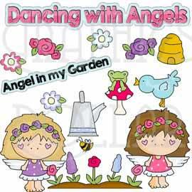 Angels in the Garden Clip Art