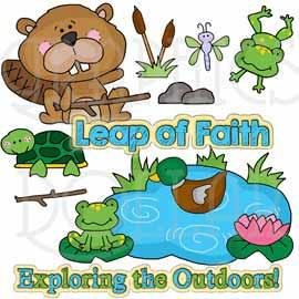 Animal Pond Pals Clip Art