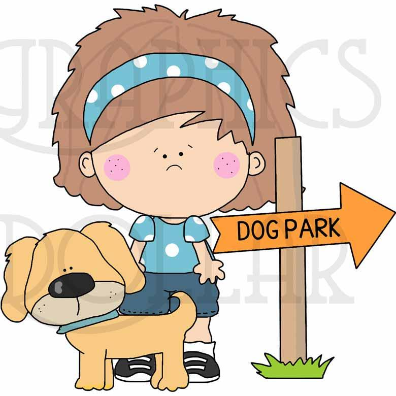 At the Dog Park Clip Art
