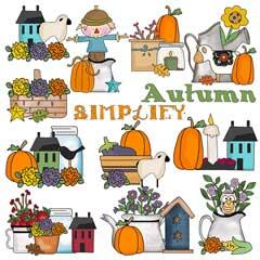 Autumn Blessings Clip Art