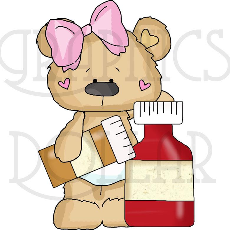 Baby Bears Go To Doctor - Clip Art Set