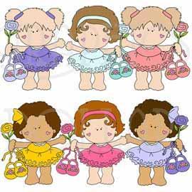 Girl Clip Art, Girly Girls at GraphicsDollar.com