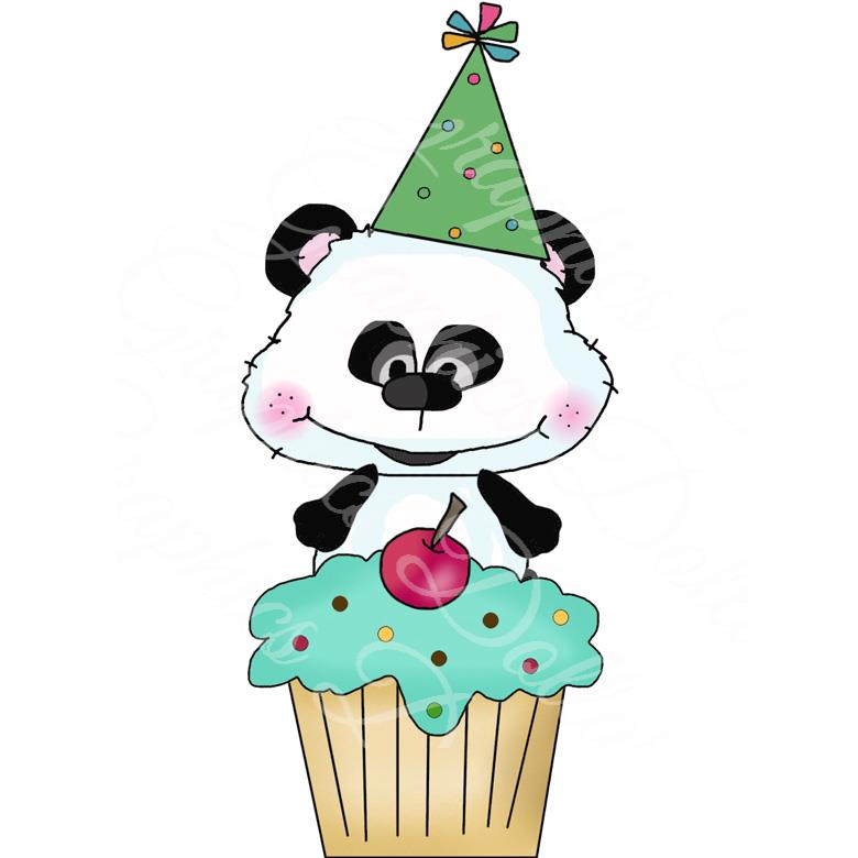 Bestie Bears Birthday Cupcakes Exclusive Clip Art