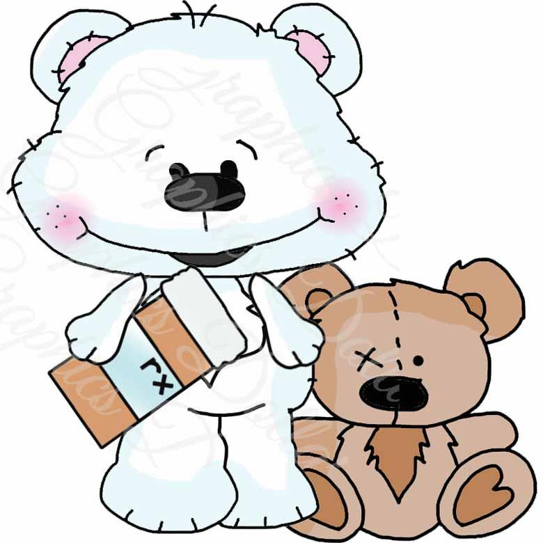 Get Well Soon Bestie Bears Clip Art - Exclusive Graphics