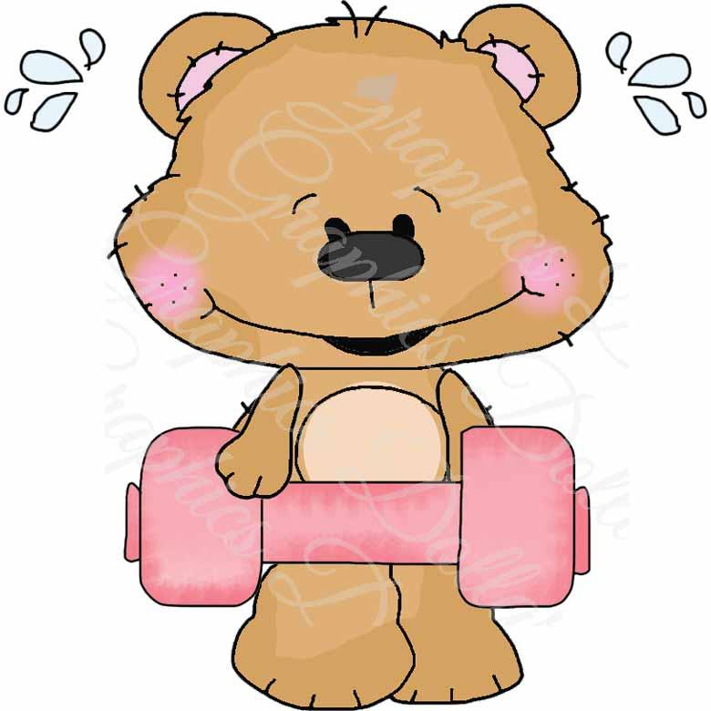 Gettin\' Fit Clip Art Bestie Bears - Exclusive Graphics