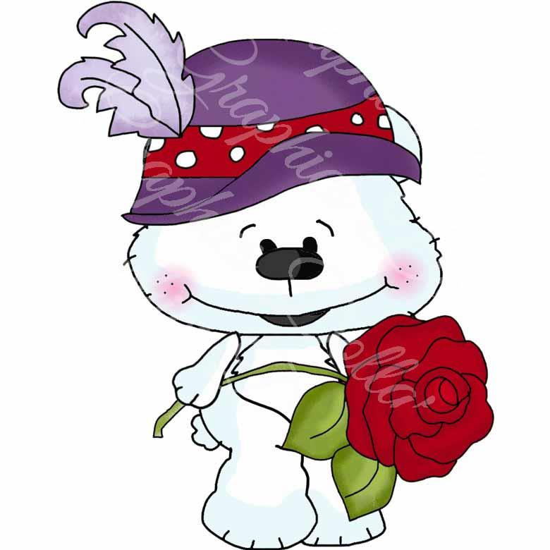 Red Hatters Bestie Bears - Exclusive Clip Art