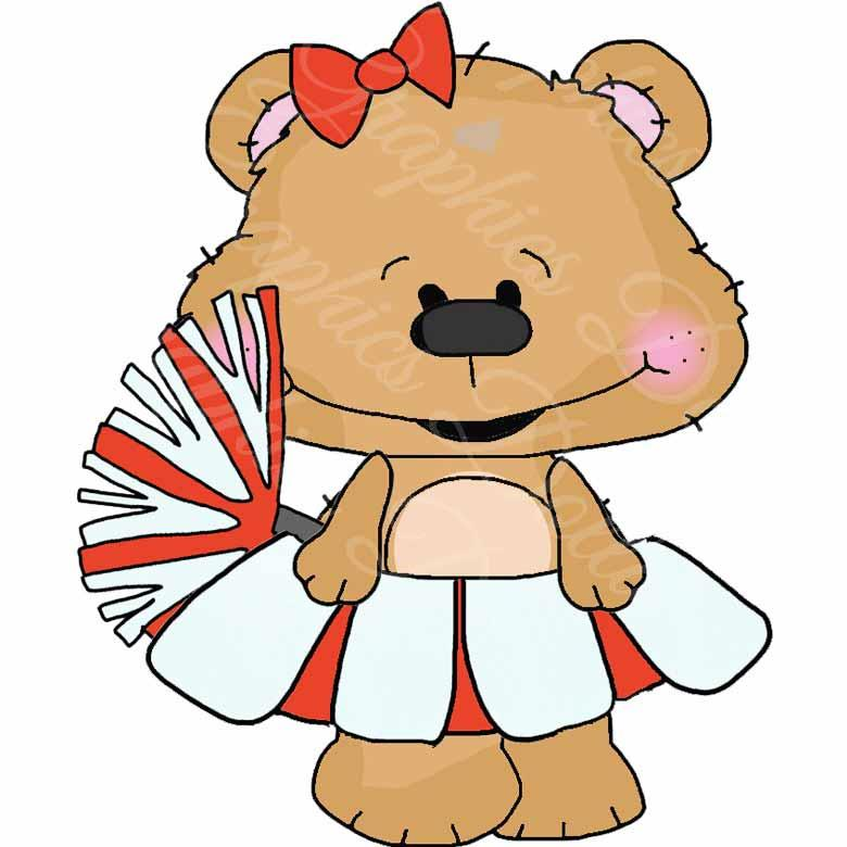 The Cheer Squad Goofy Bears - Exclusive Clip Art