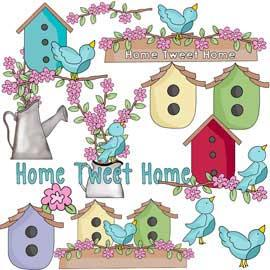 Birds and Blooms Clip Art