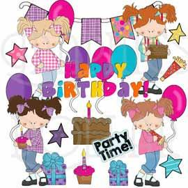 Birthday Girl Exclusive Clip Art