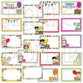 Birthday Signs Clip Art