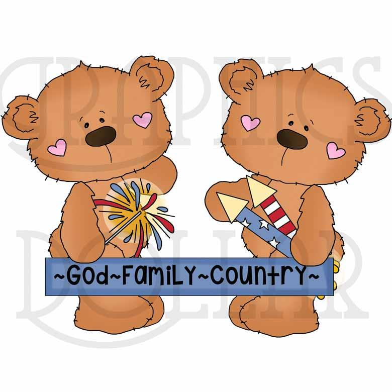 Bobo Bear America's Birthday Exclusive Clip Art