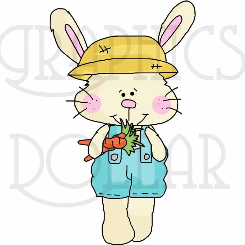 Bunny in the Garden Clip Art