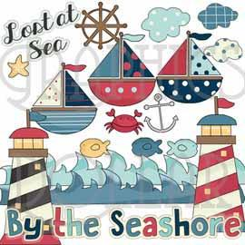 By the Seashore Clip Art