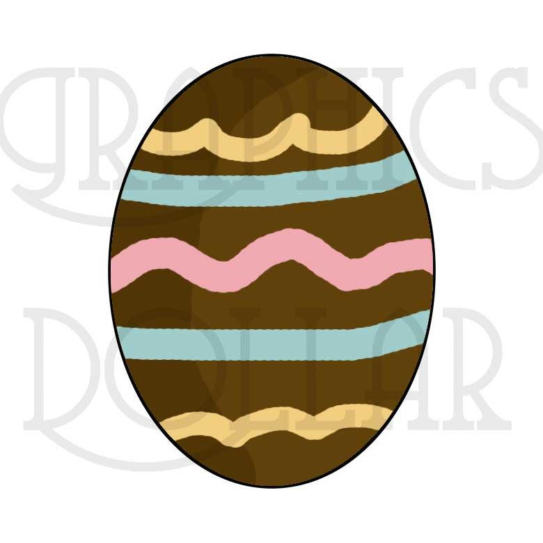 Chocolate Bunnies and Easter Eggs Clip Art