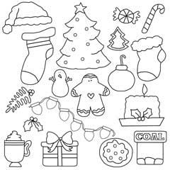 Christmas Elements Digital Stamps