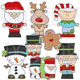 Christmas Littles Clip Art