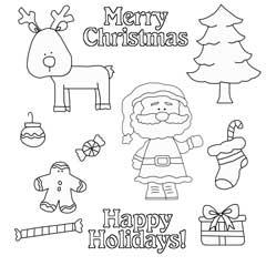 Christmas Wishes Digital Stamps