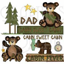 Collection Cabin Fever Clip Art