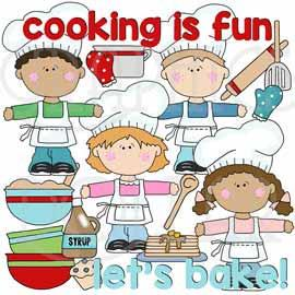 Cooking with Kids Clip Art