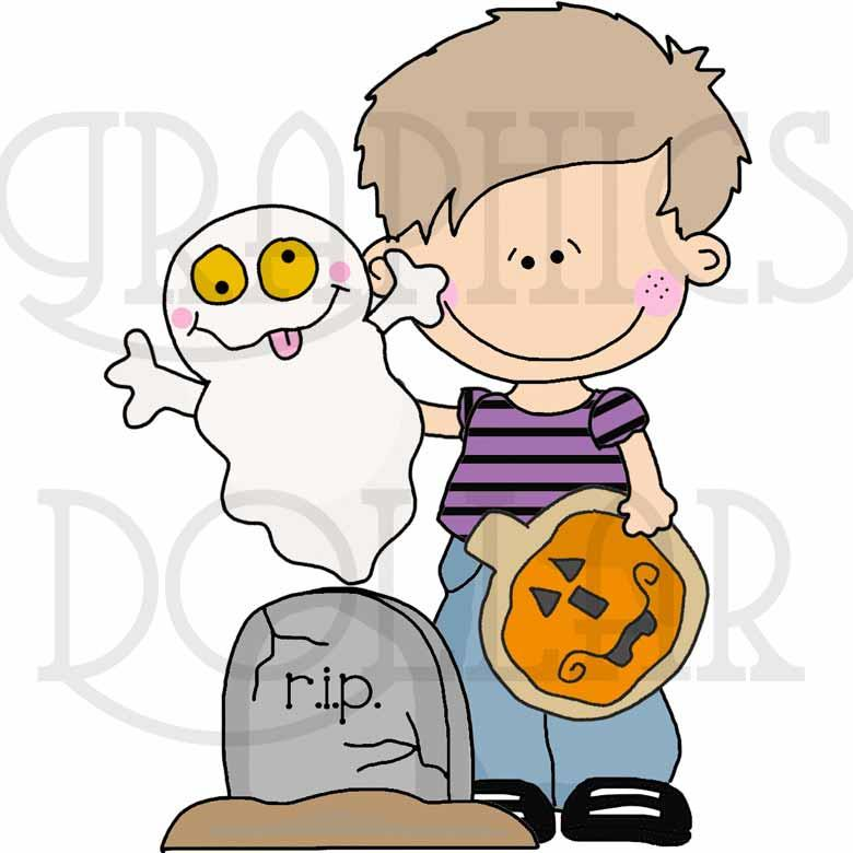 Cute Kids Trick or Treat Clip Art
