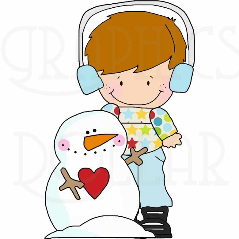 Cute Snowman Kids Clip Art