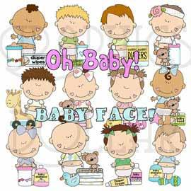 Cutest Baby Clip Art Set