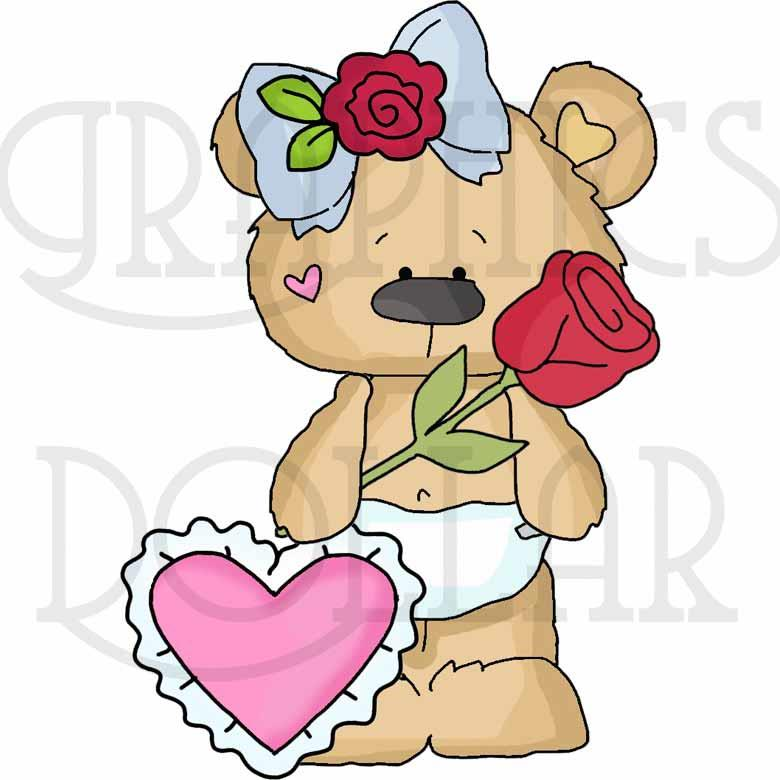 Diaper Bears First Valentine's Day Clip Art