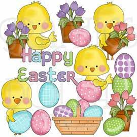 Easter Chickies Clip Art