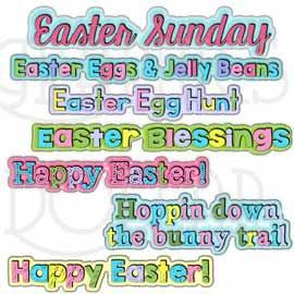 Sweet Easter Word Art Clip Art