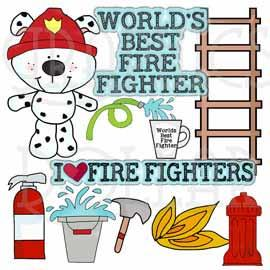 Fire Fighting Dog Clip Art