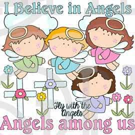 Fly with the Angels Clip Art