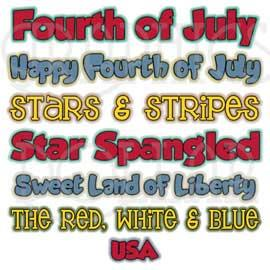 Fourth of July WordArt
