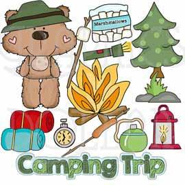Freddie Loves Camping Clip Art