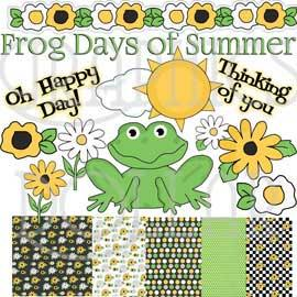 Frog Days of Summer Clip Art