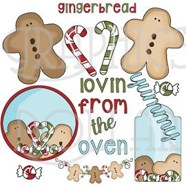 Gingerbread Love Clip Art