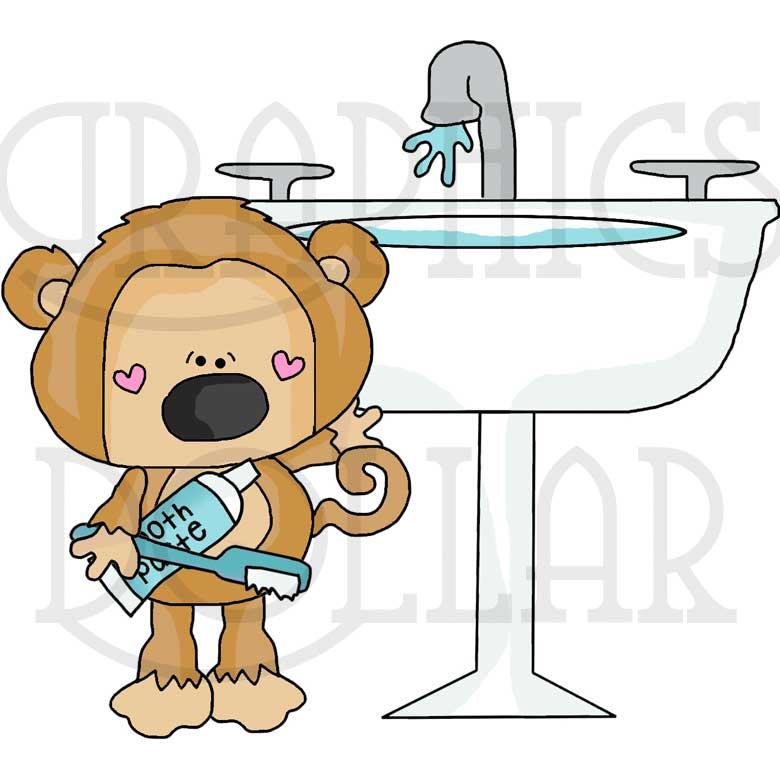 Good Morning Scruffy Monkey Clip Art