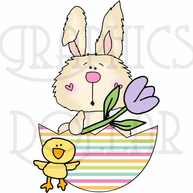 Goofy Bunny Cracked Egg Exclusive Clip Art
