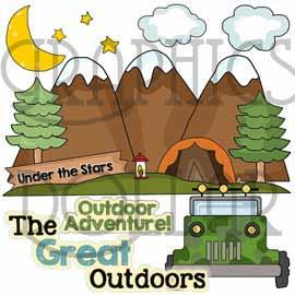 Happy Campers Clip Art