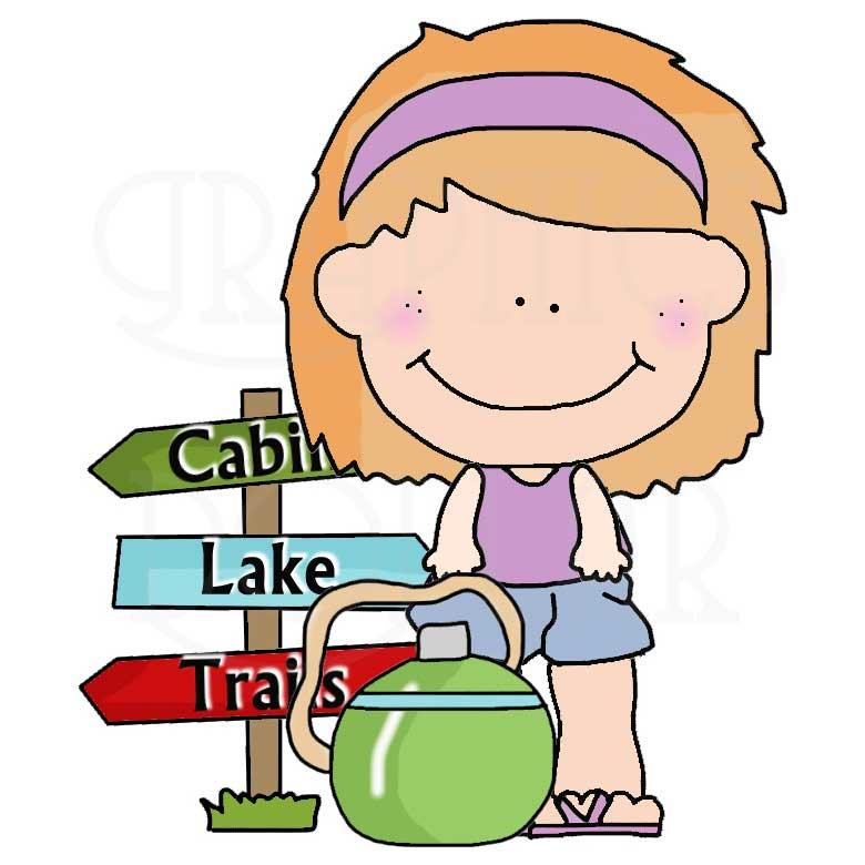 Happy Camping Kids Clip Art