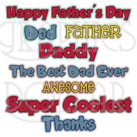 Happy Father's Day WordArt