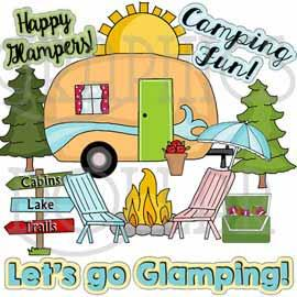 Happy Glampers Clip Art