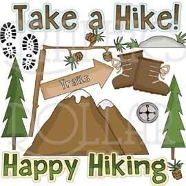 Happy Hiking Clip Art