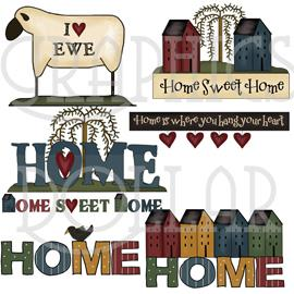 Home is Where You Hang Your Heart Clip Art