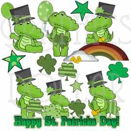 Irish Alligator Exclusive Clip Art