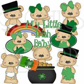 Irish Baby Bears Clip Art